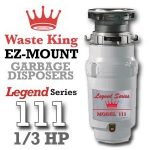 Waste King Legend Series 1/3 HP Continuous Feed Garbage Disposal with Power Cord – (L-111) Reviews