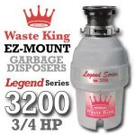 Waste King Legend Series ¾ HP Continuous Feed Garbage Disposal with Power Cord – (L-3200) Reviews